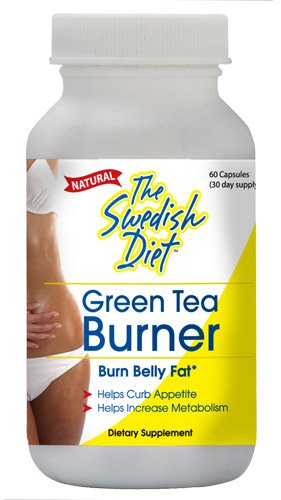 The Swedish Diet Green Tea Burner Capsules, 60 Count