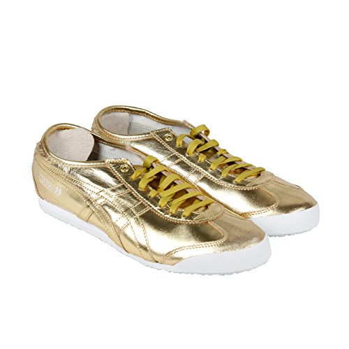 Onitsuka Tiger Mexico 66 Fashion Sneaker, Gold/Gold, 7.5 M Men's US/9 Women's M US