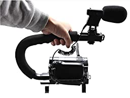 Record Boya BY-VM01 Professional Video & Broadcast Directional Condenser Microphone for Nikon D800 D800E D3200 D600 D5100 D7000 D300s D3s D3100 D4 and other DSLR Camcorder DV with Windshield + C Shape Bracket
