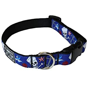 RC Pet Products 3/4-Inch by 9-13-Inch Adjustable Dog Clip Collar, Sailor Tatts, Small