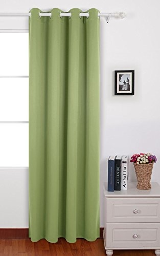 Deconovo Room Darkening Thermal Insulated Blackout Grommet Window Curtain Panel For Bedroom, Nile,52x84-Inch (Grommet Panel Curtains compare prices)