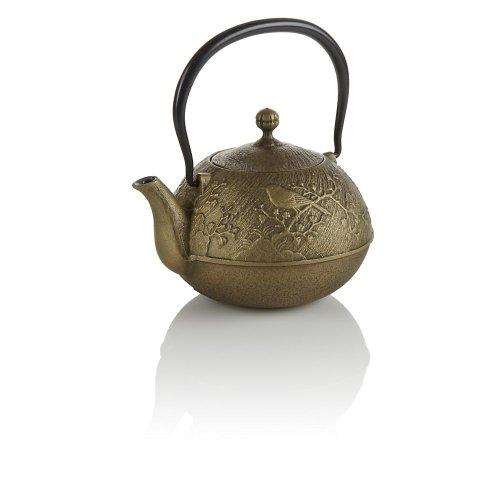 Teavana Maromi Bird Gold Cast Iron Teapot