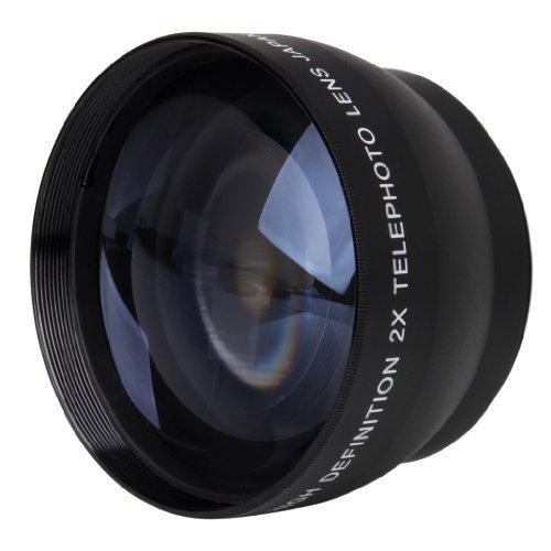 Wmicro 52Mm 2X Magnification Telephoto Lens For Nikon D5100 D3200 D70 D40 Nikon Af-S 18-55Mm Af-S 55-200Mm Lens Digital Camera
