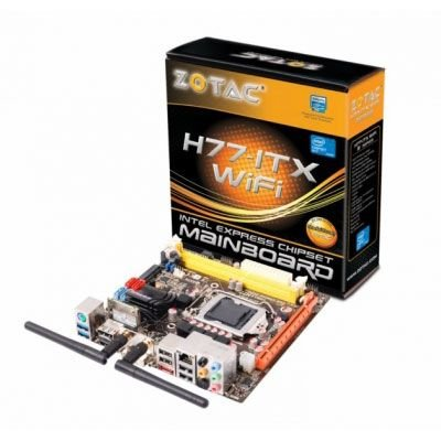 ZOTAC H77-ITX Motherboard Intel (LGA1155) H77 Express Mini-ITX Gigabit WLAN (HD Graphics 2500/4000)