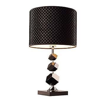Modern Black Crystal Table Lamp Black Shade: Amazon.co.uk ...