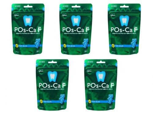 口内環境を整えるガム 歯科専用 ポスカ・エフ(POs-Ca F)パウチタイプ 100g/ペパーミント 5袋セット