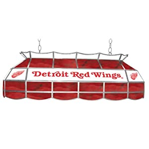 NHL Detroit Redwings Stained Glass 40 inch Lighting Fixture