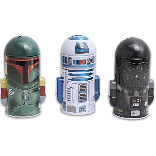 Set of Star Wars Molded Saving Banks: Darth Vader, R2-D2, Boba Fett