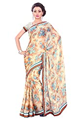 Smile Fashion Printed Daily Wear Kushi Fabrics Saree Collections