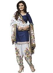 vaankosh fashion blue cotton dress materials