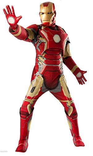 [Avengers Age Of Ultron Iron Man Deluxe Muscle Adult Costume Brand New - 810296] (Iron Man Cat Costume)