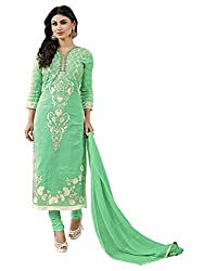 Women's Semi Cotton Salwar Suit Dress Material with dupatta By Brand SHYAM FAB