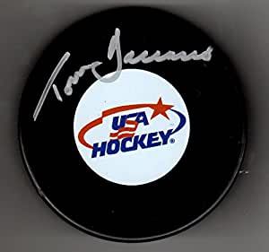 Autographed Tom Barrasso USA Hockey Puck at Amazon's