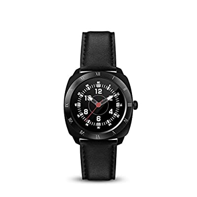 Sinma Smart Watches, 1.22 inch Waterproof Bluetooth SmartWatch Touch Screen Heart Rate Monitor and Pedometer Shake Control Smartwatch Wristwatch for Android and IOS Smart Phone, Black