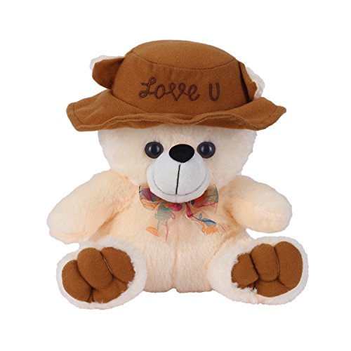 Ultra-Cap-Teddy-with-Love-You-9-inches-Stuffed-Soft-Toys-Gifts-Butter