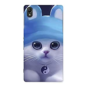 Ajay Enterprises kitty with hat Back Case Cover for Sony Xperia Z2