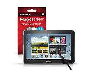 MediaDevil Samsung Galaxy Note 10.1 / Galaxy Tab 2 10.1 Screen Protectors: Magicscreen Crystal Clear (Invisible) edition - (2 x Protectors)