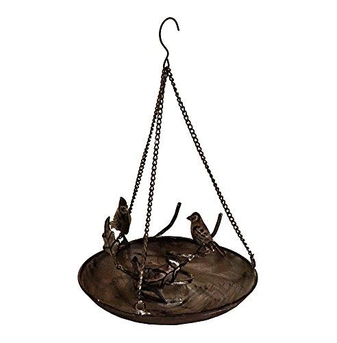 Buy East2eden Small Brown Metal Hanging Bird Bath Birdbath