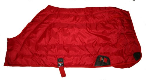 "600D Close Front Medium Weight Winter Horse Blanket Red, 80"" front-669754"