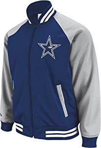 Men's Dallas Cowboys Mitchell & Ness Navy Excessive Celebration Crew Sweater