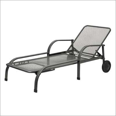 Kettler chalet wrought iron chaise lounge for Chaise kettler