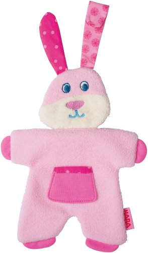HABA Fleecy Fluffy Pacifier Animal, Pink