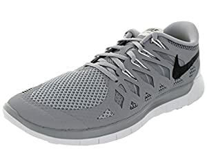 Nike Men's Free 5.0 Wlf Gry/Blck/Drk Gry/Mtllc Slv Running Shoe 8.5 Men US