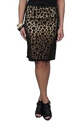 Brinley Co Womens Polka-dot Overlay A-line Skirt