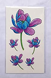 GYMNLJY Tattoo stickers 3D Flowers Waterproof Personality Cover Scars Body Paint Tattoo Stickers Body Art Sticker (20 Sheet Pack) , 10.56cm