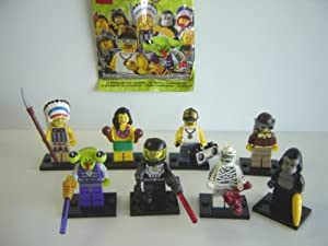 レゴ ミニフィギュア シリーズ 3 サイド B 全8種 LEGO 部族の長全8種 1 エイリアン 2 宇宙の悪者 3 ミイラ