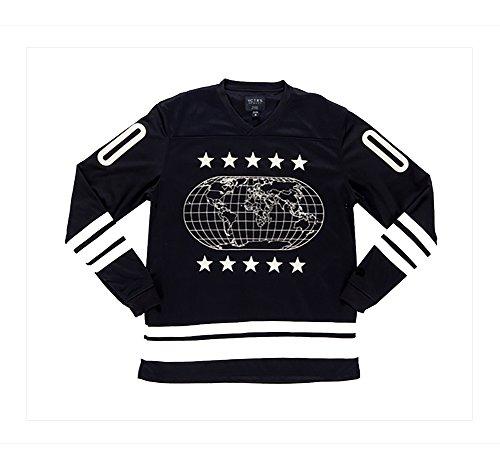 10 Deep Mens Atlas Hockey Jersey, Black, X-Large