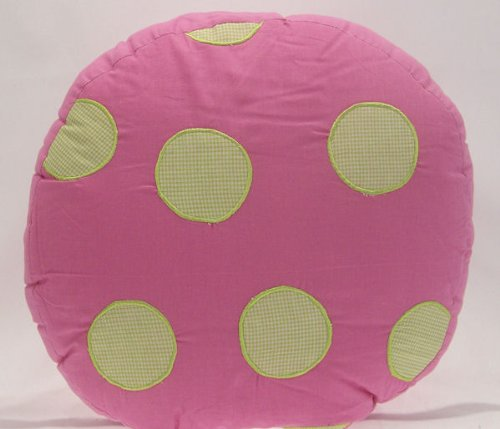 Crazy Pink Ladybug Pillow back-978152