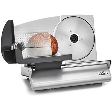 Cooks JCP JC Penney Professional Home Deli Meat Slicer 150 Watt Serrated Blade (Mini Food Slicer compare prices)