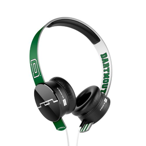 Sol Republic 1211-Dtm Collegiate Series Tracks On-Ear Headphones With Three Button Remote And Microphone - Dartmouth University