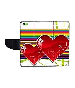 KolorEdge Printed Flip Cover For Apple IPhone 5C -Multicolor (43KeMLogo11037IPhone5C)