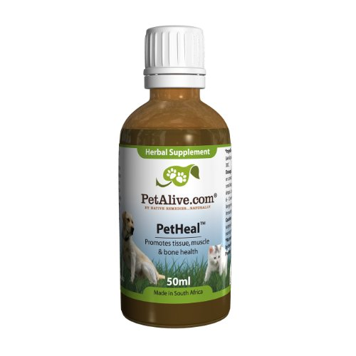 PetHeal Naturally promote healing and recovery of cat/dog injuries of the tissues, tendons, muscles & bones.