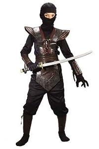 Ninja Fighter Costume - Child Costume - Red Large (12-14)