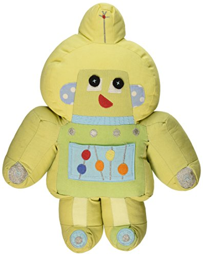 "The Little Acorn Robot Shaped Tooth Fairy Pillow, Green, 14"" High"