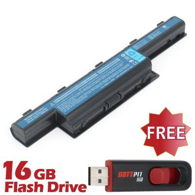 Battpit™ Laptop / Notebook Battery Replacement for Acer Aspire 7560-63428G50 (4400mAh / 48Wh) with FREE 16GB Battpit™ USB Flash Drive