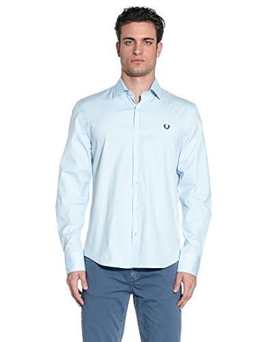 Fred Perry Camisa Hombre Azul Claro