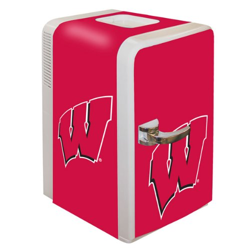 NCAA Wisconsin Badgers Portable Party Fridge, 15-Quart