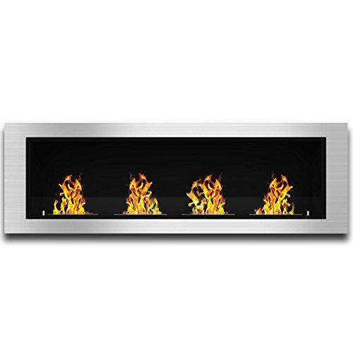 Elite Boyfriend Luxe Recessed Ventless Bio Ethanol Wall Mounted Fireplace