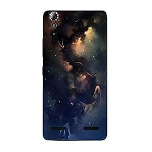 Customizable Hamee Original Designer Cover Thin Fit Plastic Hard Back Case for Lenovo Vibe K5 plus / K5+ (Sky / Blue)