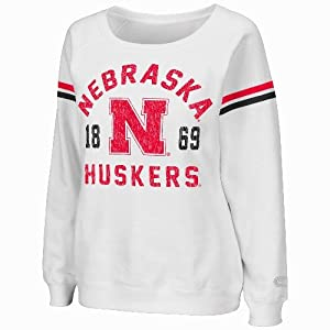 Nebraska Cornhuskers Ladies NCAA Tailgate Boat Neck Dual Blend Sweatshirt by Unknown