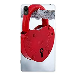 Cute Red Lock Multicolor Back Case Cover for Sony Xperia Z2