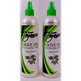 Lusti Organics Olive Oil Anti-Frizz Hair Detangling Spray 12 Oz (pack Of 2)