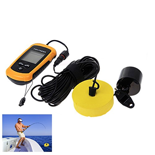 Sunsbell Portable Fish Finder With Round Sonar Sensor Lcd Display With Led Back-Lighting