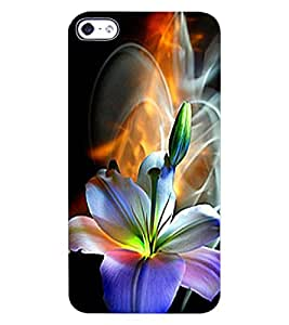 ColourCraft Beautiful Flower Design Back Case Cover for APPLE IPHONE 4