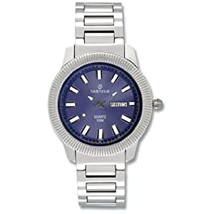 Men's Round Sartego Land Master Watch Blue Dial