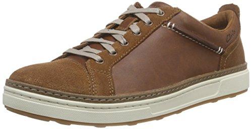 Clarks - Lorsen Edge, Oxford da uomo, marrone (tan leather), 45